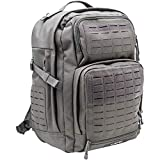 LA Police Gear Atlas 24H MOLLE Tactical Backpack for Hiking, Rucksack, Bug Out, or Hunting-Grey