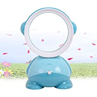SUPOW Bladeless Fan, Mini USB Electric Table Desk Easy Clean No Blades Fan Summer Natural Air Saft Cooling Fan For Home/Office/Outdoor/Baby/Kids (Blue)