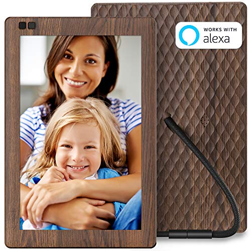 Nixplay Seed WiFi Digital Picture Frame 10.1 Inch with IPS Display, iPhone & Android App, Free 10GB Online Storage and Motion Sensor (Wood Effect) – W10B