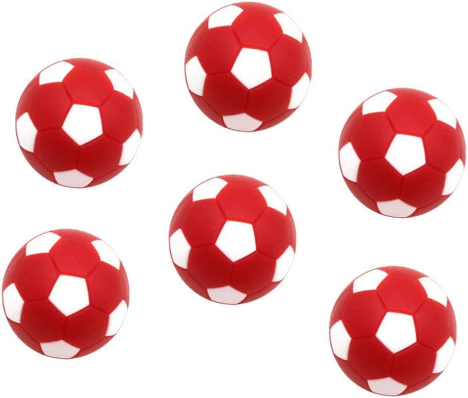 perfeclan 6X Mini Pelotas Fútbol 32mm de Plástico de Tabla Futbolín Reemplazables para Actividades Deportivas Internos - Rojo: Amazon.es: Juguetes y juegos