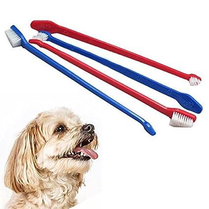 Paleo Mascotas doble final dental perro mascota cepillo de dientes cepillo de dientes de aseo