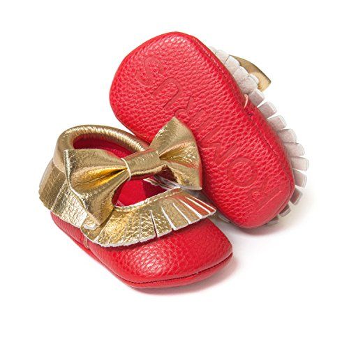 Royal Victory Baby Girls Shoes PU Soft Sole Bow Prewalker 0-18 Months