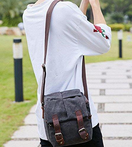 Männer und Frauen Schulter Messenger Bags Fotokamera Taschen wasserdichte Leinwand SLR Kamera Taschen (Color : Braun) WBLGJc6cgk