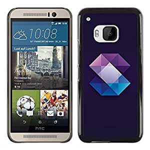 Exotic-Star ( Crystal Gemstone Polygon Black ) Fundas Cover Cubre Hard Case Cover para HTC One M9