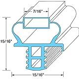Delfield 1702474 Gasket Door 25-3/8'' X 25-1/2'' Push-In 7/16'' Mag For Delfield 27'' 4427N 741115