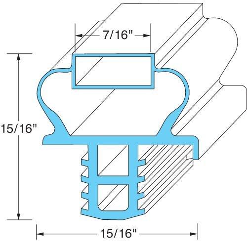 Delfield 170-2622 1702622 Gasket Door 21-3/4 inch x 27-1/2 inch Blue For 4048-St 4048-Uc 4148-St 741184