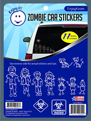 Enjoy It Zombie Car Stickers, 11 pieces, Outdoor