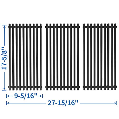 SHINESTAR Grill Grate Cooking Grid Replacement for Brinkmann 810-1470, 810-2415-W, 810-8300, 810-9425-W and More, Grill King 810-9325-0, Porcelain Steel BBQ Cooking Grate 17-5/8 inch(3 PCS, SS-KW002)