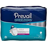 Prevail Breezers Adult Briefs, Large, 18 Count (Pack of 4)