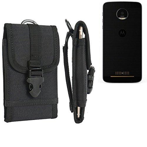 bolsa del cinturón / funda para lenovo Moto Z, negro | caja del teléfono cubierta protectora bolso - K-S-Trade (TM)
