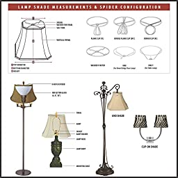 Royal Designs Wide Pleat Empire Designer Lamp Shade, Antique Gold, (6.25 x 8) x (11 x 16) x 12 (DDS-68-16AGL)