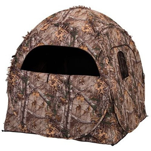 Ameristep Doghouse Ground Blind, Two Man Hunting Blind in Realtree Xtra Camo (Previous Generation)