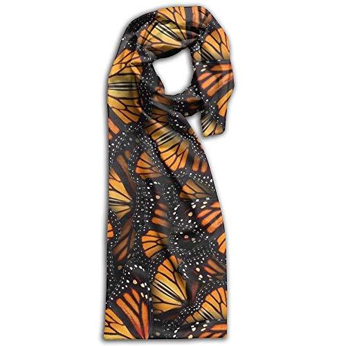 - Women's Men's Fall Winter Fashion Scarf Long Shawl Cotton Scarves Print Scarves Heaps of Orange Monarch Butterflies Winter Warm Soft Chunky Large Blanket Wrap Shawl Scarf