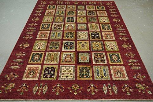 Babak's Oriental Carpets Chobi Ziegler Handmade Afghan Garden Pattern Rug 8'0