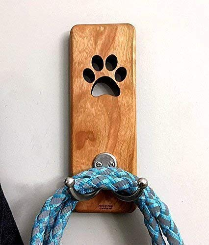 Dog leash holder, leash hanger, leash hook, wall mount, dog leash hanger ()