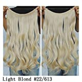 """Secret Halo Hair Extensions Flip in Curly Wavy Hair Extension Synthetic Women Hairpieces 20"""" (Light Blonde #22/613)"""