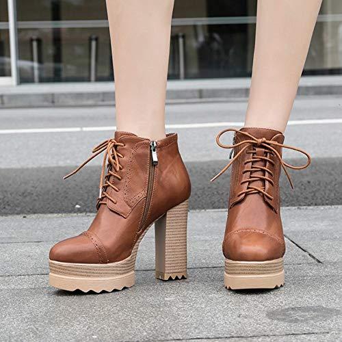 Shoe Scarpe Donna Stringata Marone Elegante Misssasa zvtPwqnB