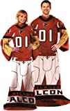 NFL Football Atlanta Falcons Comfy Throw ~ Blanket with Sleeves - Large Unisex Adult Size
