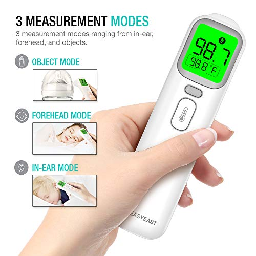51jOLiIHi%2BL - EasyEast Touchless Infrared Thermometer, Smart Forehead Thermometer, In-Ear Thermometer For Adult, Baby And Kids, Smart Digital Screen,Fast Reading Detection Thermometer,No Battery Included