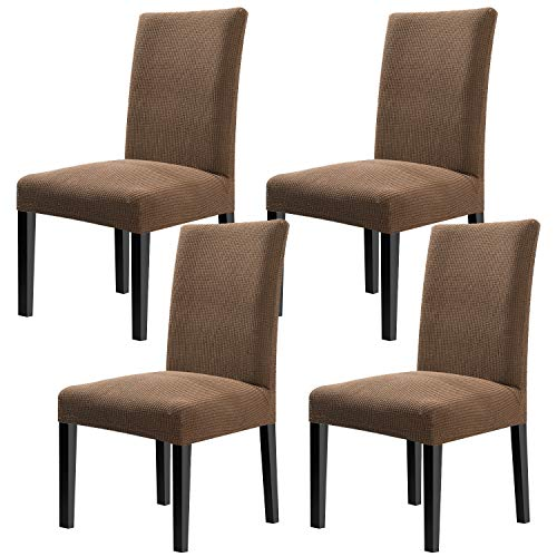 YISUN Modern Dining Chair Covers,Super Fit Stretch High Chair Cover Removable Washable Protector Cover for Hotel,Dining Room,Ceremony,Banquet Wedding Party Set of 4 Chair Protective Covers