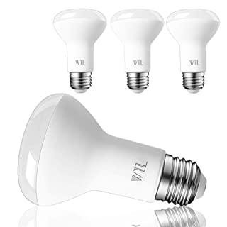 WTL BR20 LED Bulb 4 Pack Dimmable 5000K Daylight Bright White 50W Equivalent and 7W 550LM Flood Light E26 Base Incandescent Track Light for Kichen & Ceiling fixtures