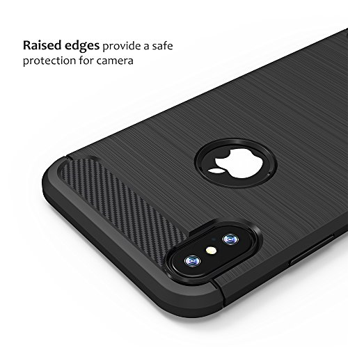 iPhone X Custodia Nero,Anjoo Cover Huawei iPhone 10 Protettiva Case Custodia in Silicone Anti-Graffio
