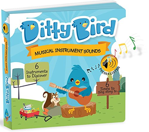 OUR BEST INTERACTIVE INSTRUMENTAL MUSIC BOOK for BABIES. Educational Toys for 1 year old. Toddler Musical Book to learn Musical Instruments. Board books for 1 year old. 1 year old boy girl gifts. by Ditty Bird