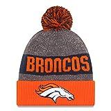 New Era Denver Broncos NFL Men's Winter Knit Pom Beanie Orange/Blue/Grey 11289188