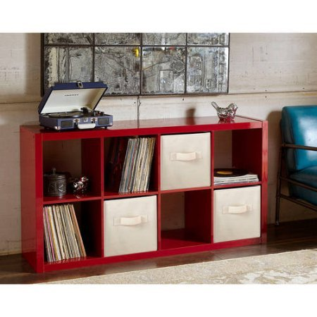 Better Homes and Gardens 8-Cube Organizer (High Gross Lacquer Red) by Better Homes and Gardens