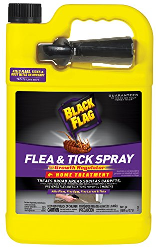 Black Flag Flea & Tick Killer Home Treatment with Growth Regulator Spray, 1-Gallon (Spray To Get Rid Of Ticks In Yard)