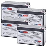 (4) 12V 7.2Ah F2 - UPSBatteryCenter Replacement battery set for Alpha Technologies ALI Plus 1500 Multi Mount (017-737-65)