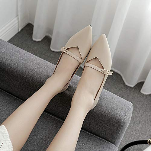single shallow flat 2018 wild 38 Single mouth female pointed simple shoes bottom female heeled with shoes shoes EU bottomed commuter flat low soft new FLYRCX wqt7xYFfw