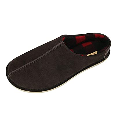 Pamir Mens Genuine Suede Clog Slippers Winter House Shoes with Warm Fleece Lined Indoor and Outdoor Sole | Slippers