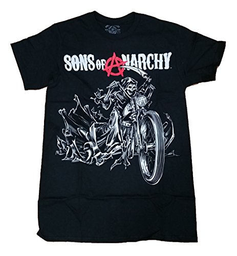 Sons of Anarchy Reaper on a Motorcycle Graphic T-Shirt - Medium