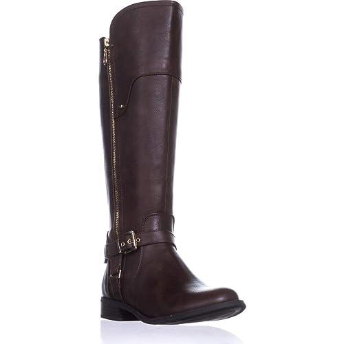 09e15feff3f G By Guess Womens Harson Almond Toe Knee High Fashion Boots: Amazon ...