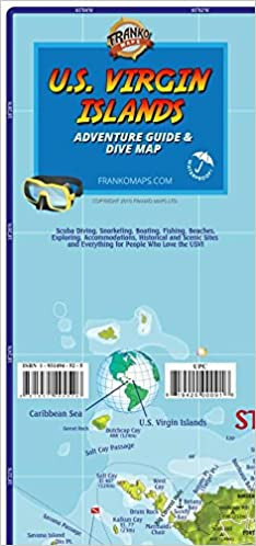 U S Virgin Islands Adventure Guide Dive Map Franko Maps Ltd