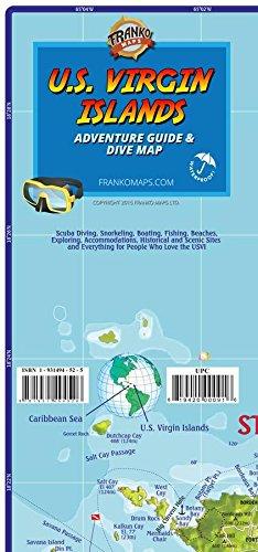 U.S. Virgin Islands Adventure Guide & Dive Map