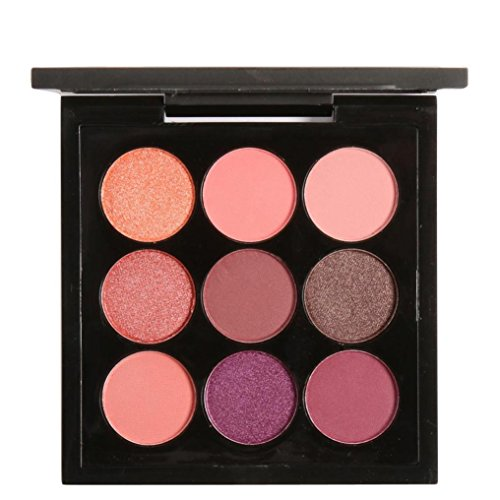 - YJYdada Retro 9 Colors Smoky Eye Shadow Makeup Makeup Kit Charming (A)