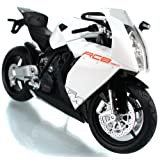 1:12 KTM RC8 Diecast Motorcycle White Color