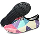 Barerun Women Men Lightweight Quick-Dry Water Shoes for Water Sport Beach Pool Camp Purple 6.5-7.5 B(M) US