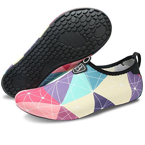 Barerun Men Aqua Dry Pool Surf Yoga for Swim Socks Purple Quick for Beach Sports Shoes Barefoot Women Water raSxqr