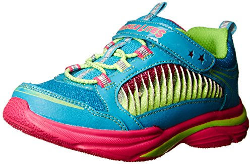 Skechers Kids Lite Kicks II Twisty Kicks Sneaker (Toddler/Little Kid/Big Kid),Turquoise/Multi,7 M US Toddler