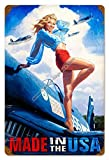 home is where the air force sign - American Beauties Pin Up Model Made In The USA Air Force Aviation Pride Greg Hildebrandt Metal Sign