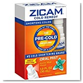Zicam Cold Remedy Artic Mint Oral Mist, Fl Oz: Clinically Proven to shorten colds when taken at the first sign of symptoms, homeopathic