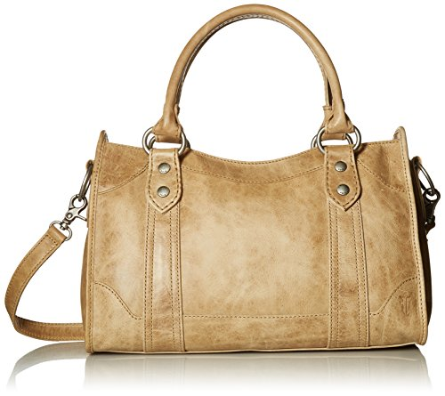 FRYE Melissa Zip Satchel Leather Handbag, Sand by FRYE
