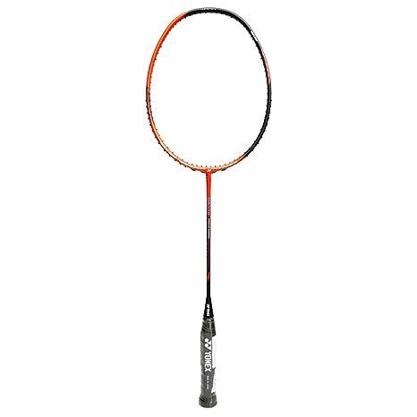 YONEX Voltic Tour 8800 Unstrung Badminton Racquet   Orange/Black , G4 , 85 92 grams , 28 lbs   Racquets