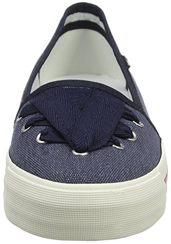 Midnight Bleu Lace Sneaker Tommy 403 Sneakers Femme Basses Jeans 6gnwxqp
