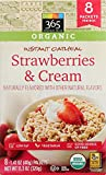 365 Everyday Value Organic Strawberries and Cream Instant Oatmeal 8 Pack, 11.29 OZ