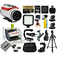 TomTom Bandit 4K Action Camera with 32GB Ultra Memory + LED Night Light + Handgrip + Floaty Bobber + Action Handle + Suction Cup + Large Padded Case + 60 Tripod + Bike Handlebar Mount + More