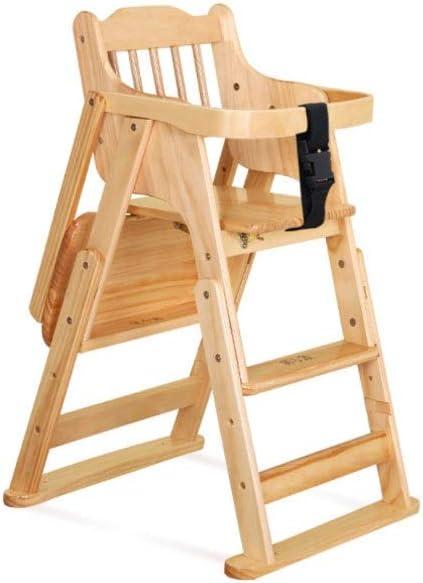 Silla de comedor para niños de madera de estilo retro, estable y segura, plegable y desplazable, portátil, gruesa Holzfarbe Talla:65 * 50 * 82cm: Amazon.es: Bebé